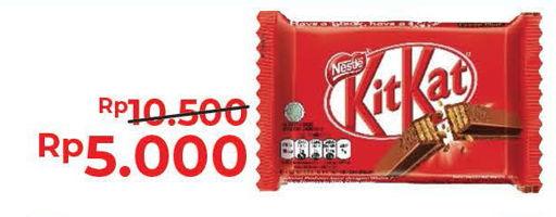 Promo Harga KIT KAT Chocolate 4 Fingers Original, Green Tea 35 gr - Alfamart