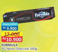 Promo Harga FORMULA Pasta Gigi Nano Charcoal 160 gr - Alfamart