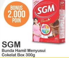 Promo Harga SGM Bunda Susu Ibu Hamil & Menyusui Cokelat 300 gr - Alfamart