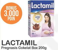 Promo Harga LACTAMIL Pregnasis Susu Bubuk Ibu Hamil Coklat 200 gr - Alfamart