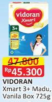 Promo Harga VIDORAN Xmart 3+ Madu, Vanilla 725 gr - Alfamart