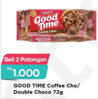 Promo Harga GOOD TIME Cookies Chocochips Coffee, Double Choc per 2 pcs 72 gr - Alfamart
