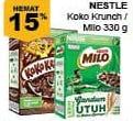 Promo Harga NESTLE KOKO KRUNCH Nestle Koko Krunch / Milo Sereal 330gr  - Giant