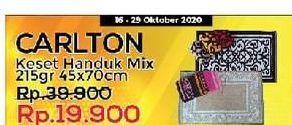 Promo Harga CARLTON Keset Handuk Mix 45x70cm 215 gr - Yogya