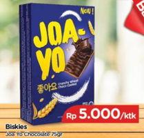 Promo Harga BISKIES Joayo Chocolate 75 gr - TIP TOP