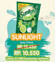 Promo Harga SUNLIGHT Pencuci Piring Lime 755 ml - Yogya