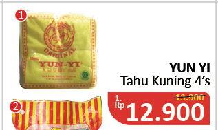 Promo Harga YUN YI Tahu Kuning 4 pcs - Alfamidi