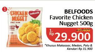 Promo Harga BELFOODS FAVORITE Chicken Nugget 500 gr - Alfamidi