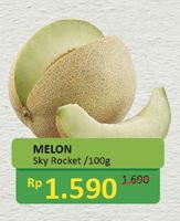 Melon Sky Rocket per 100 gr Diskon 6%, Harga Promo Rp1.590, Harga Normal Rp1.690