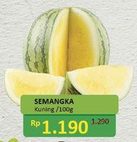 Promo Harga Semangka Kuning per 100 gr - Alfamidi