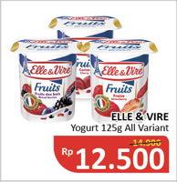 ELLE & VIRE Yoghurt All Variants 125 gr Diskon 16%, Harga Promo Rp12.500, Harga Normal Rp14.900