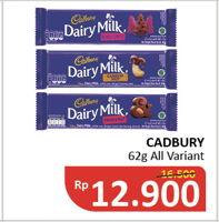Promo Harga CADBURY Dairy Milk All Variants 62 gr - Alfamidi