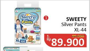 Promo Harga SWEETY Silver Pants XL44  - Alfamidi