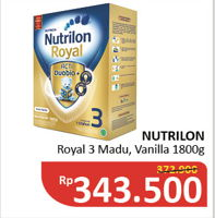 Promo Harga NUTRILON Royal 3 Susu Pertumbuhan Vanilla, Madu 1800 gr - Alfamidi