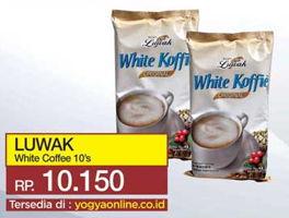 Promo Harga LUWAK White Koffie per 10 sachet - Yogya