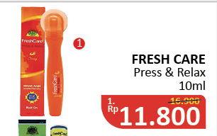 Promo Harga FRESH CARE Minyak Angin Press & Relax 10 ml - Alfamidi