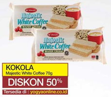 Promo Harga KOKOLA Majestik Wafer Cream White Coffee 70 gr - Yogya