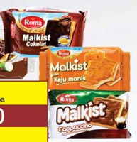 Promo Harga ROMA Malkist Crackers Coklat, Keju, Cappuccino  - Yogya