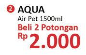 Promo Harga AQUA Air Mineral per 2 botol 1500 ml - Alfamidi