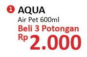 Promo Harga AQUA Air Mineral per 3 botol 600 ml - Alfamidi