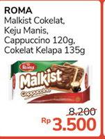 ROMA ROMA Malkist Cream  Diskon 57%, Harga Promo Rp3.500, Harga Normal Rp8.200, Syarat dan Ketentuan berlaku