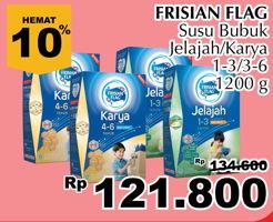 Promo Harga FRISIAN FLAG 123 Jelajah / 456 Karya 1200 gr - Giant
