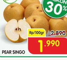Promo Harga Pear Singo per 100 gr - Superindo