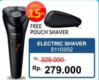 Promo Harga PHILIPS S1103 | Shaver Wet & Dry Series 1000  - Hartono