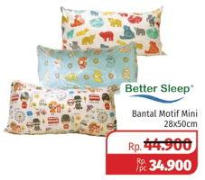 Promo Harga BETTER SLEEP Bantal Motif Mini 28 X 50 Cm  - Lotte Grosir