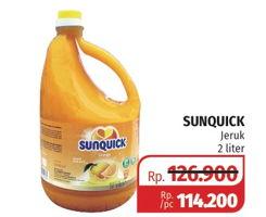 Promo Harga SUNQUICK Minuman Sari Buah Orange 2 ltr - Lotte Grosir