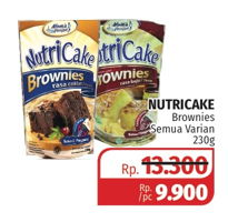 Promo Harga NUTRICAKE Instant Cake Brownies All Variants 230 gr - Lotte Grosir