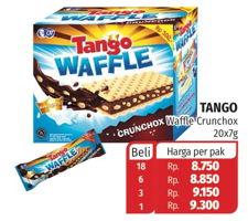 Promo Harga TANGO Waffle per 20 pcs 7 gr - Lotte Grosir