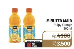 Promo Harga MINUTE MAID Juice Pulpy Pulpy Orange 300 ml - Lotte Grosir