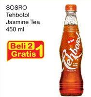 Promo Harga SOSRO Teh Botol Jasmine 450 ml - Indomaret