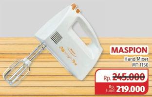 Promo Harga MASPION Hand Mixer MT-1150  - Lotte Grosir