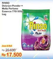 Promo Harga RINSO Rinso Detergent Bubuk Colour Care 770gr/800gr  - Indomaret