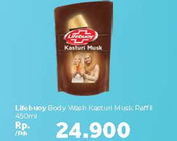 Promo Harga LIFEBUOY Body Wash Katsuri Musk 450 ml - Carrefour