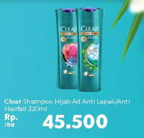 Promo Harga CLEAR Shampoo Hijab Pure Anti Lepek, Hairfall 320 ml - Carrefour