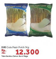 Promo Harga SUS Gula Pasir Putih 1 kg - Carrefour