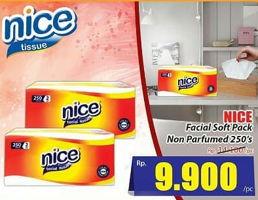Promo Harga NICE Facial Tissue Softpack Non Parfum 250 gr - Hari Hari