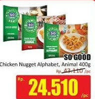 Promo Harga SO GOOD Chicken Nugget Alphabet, Animal 400 gr - Hari Hari