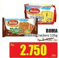 Promo Harga ROMA Malkist Crackers 135 gr - Hari Hari