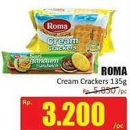 Promo Harga ROMA Cream Crackers 135 gr - Hari Hari