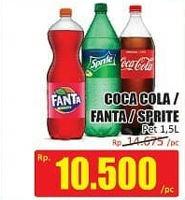 Promo Harga Coca Cola/Fanta/Sprite 1500 ml - Hari Hari