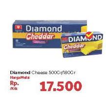 Promo Harga DIAMOND Keju Cheddar 180/500g  - Carrefour