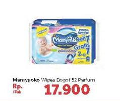 Promo Harga MAMY POKO Baby Wipes Perfumed 52 pcs - Carrefour