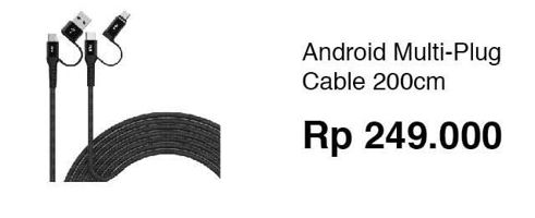 Promo Harga FEELTEK Android Fast Charging Multi-Plug Cable  - Erafone