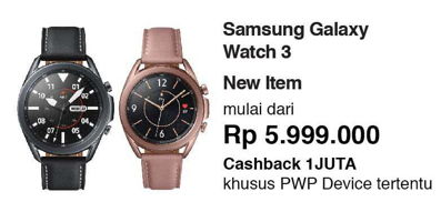Promo Harga SAMSUNG Galaxy Watch 3  - Erafone