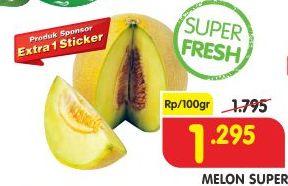 Promo Harga Melon Super per 100 gr - Superindo