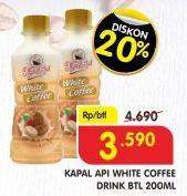 Promo Harga KAPAL API White Coffee Drink 200 ml - Superindo